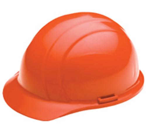 Hard Hat Ratchet Hi Viz Orange Americana 4 PT ERB 19365