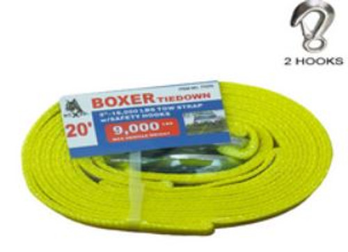 Tow Straps 9000 lb W/ Hooks Boxer 77075