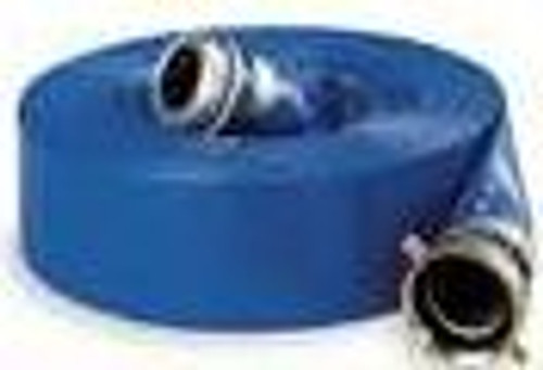 Flat Discharge w/Fittings 1-1/2 X 50 Blue