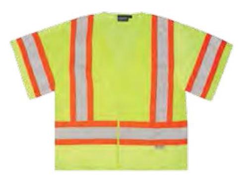 Safety Vest XL Aware Hi-Vis Class 3 ANSI ERB 14611