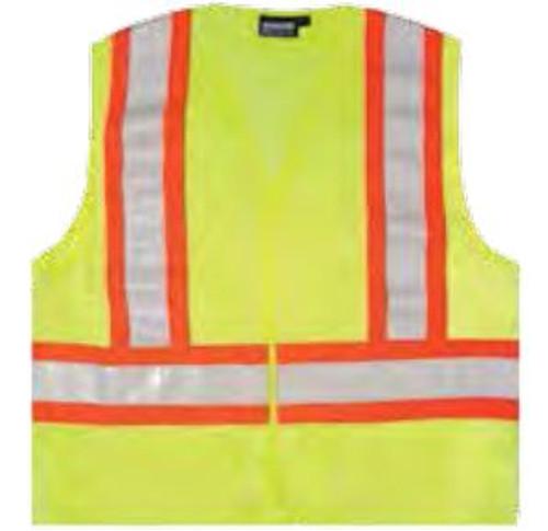 Safety Vest Lg Aware Hi-Vis Class 2 ANSI Lime ERB 14606