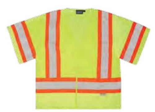Safety Vest Lg Aware Hi-Vis Class 3 ANSI ERB 14610