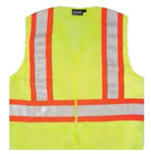 Safety Vest XL Aware Hi-Vis Class 2 ANSI Lime ERB 14607