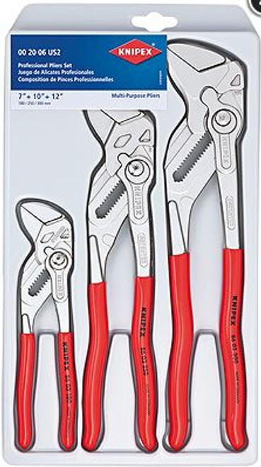 Cobra Plier Set 3pc (7,10, 12) Multi-Purpose Knipex 8603