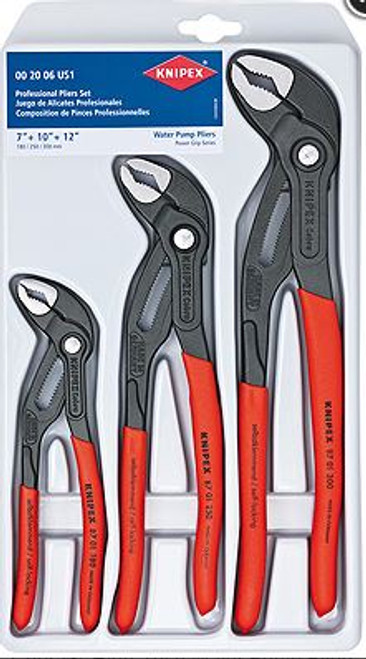 Cobra Plier Set 3pc (7,10, 12) Water Pump Knipex 8701