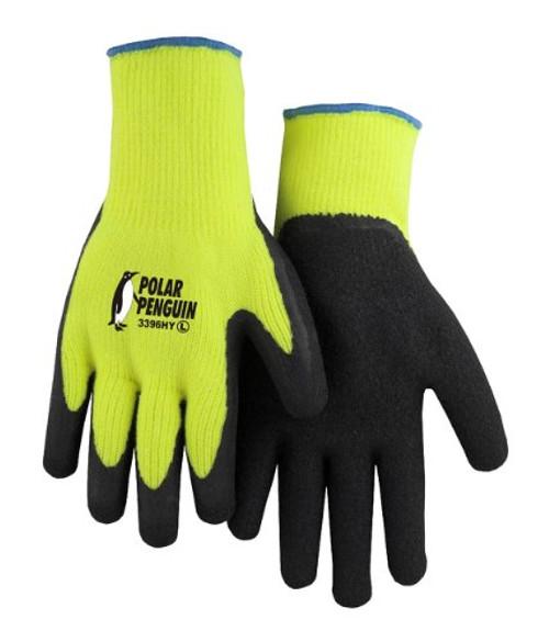 Polar Penguin HiViz Yellow Glove Dozen Majestic 3396HY
