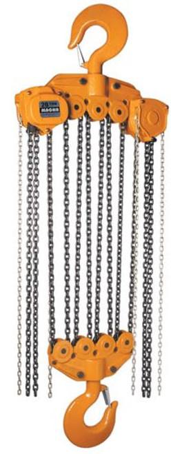 Hoist Chainfall 20ton x 10' lift Magna