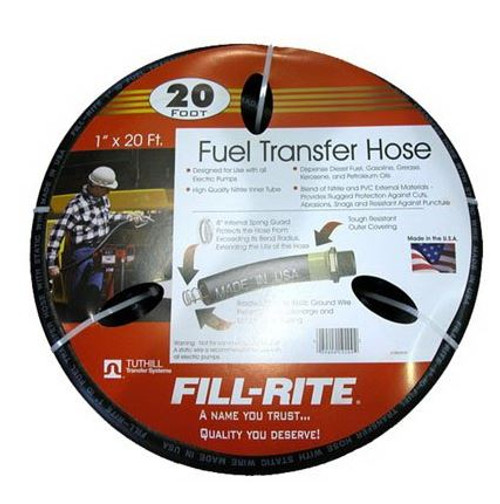 Fuel Transfer Hose 1'' x 20' w/ Static Wire Fill-Rite FRH10020