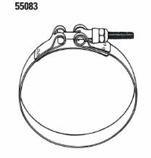 55083-1000 Clamp 1/4-20 HD SS Band 10'' Dia Aeroquip