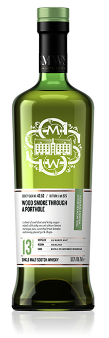 Wood smoke through a porthole