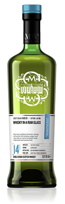 Whisky in a rum glass