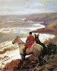 Art Prints of Whipper on the Cornish Cliff by Alfred James Munnings