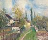 Art Prints of Un Sentier aux Sablons or a Path at Les Sablons by Alfred Sisley