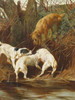 Art Prints of Four Terriers Going to Ground by Arthur Wardle