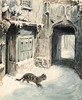 Art Prints of Simpkin Goes Out by Beatrix Potter