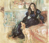 Art Prints of Julie Manet and her Greyhound, Laertes by Berthe Morisot