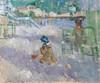 Art Prints of Plage de Nice or Beach in Nice by Berthe Morisot