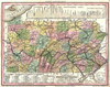 Art Prints of Pennsylvania in Color, Bucks County Vintage Map