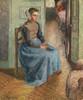Art Prints of Little Flemish Girl, La Rosa by Camille Pissarro