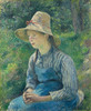 Art Prints of Peasant Girl with a Straw Hat by Camille Pissarro