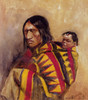 Art Prints of Stone in Moccasin Woman by Charles Marion Russell