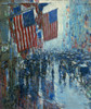 Art Prints of Rainy Day, Fifth Avenue by Childe Hassam