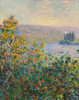 Art Prints of Flower Beds at Vetheuil by Claude Monet