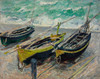 Art Prints of Three Fishing Boats by Claude Monet