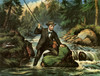 Art Prints of An Anxious Moment, a Three Pounder Sure by Currier & Ives