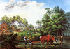 Art Prints of American Farm Scenes, No. 1 by Currier & Ives