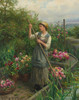 Art Prints of Gathering Flowers Along the River by Daniel Ridgway Knight