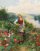 Art Prints of On the Terrace at Rolleboise by Daniel Ridgway Knight