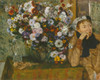 Art Prints of A Woman Seated by a Flower Base by Edgar Degas