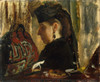 Art Prints of Mademoiselle Marie Dihau by Edgar Degas
