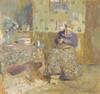 Art Prints of Madame Vuillard Sewing by Edouard Vuillard