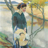 Art Prints of Girl with Straw Hat by Edward Cucuel