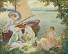 Art Prints of Picnic on the Starnberger by Edward Cucuel