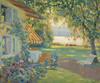 Art Prints of The Artist's garden on the Starnberg by Edward Cucuel