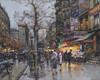 Art Prints of Paris, La Porte Saint Martin by Eugene Galien-Laloue