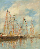 Art Prints of Yacht Basin at Trouville-Deauville by Eugene Boudin