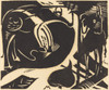 Art Prints of Two Mythical Animals by Franz Marc
