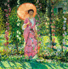 Art Prints of Hollyhocks by Frederick Carl Frieseke