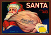 Art Prints of 017 Santa Brand, Fruit Crate Labels