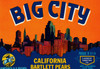 Art Prints of 023 Big City Bartlett Pears, Fruit Crate Labels
