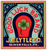 Art Prints of 056 Good Luck Brand, Fruit Crate Labels