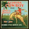 068 Florida Cowboy Oranges and Grapefruit, Fruit Crate Labels | Fine Art Print