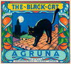 Art Prints of |Art Prints of 077 The Black Cat Agruna, Fruit Crate Labels