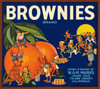 082 Brownies Brand, Fruit Crate Labels | Fine Art Print