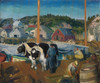 Ox Team, Wharf at Matinicus by George Bellows | Fine Art Print
