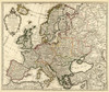 Art Prints of Carte d'Europe, 1724 (4764007) by Guillaume De Lisle
